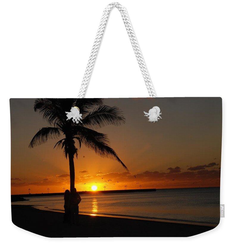 Sunrise Photos In Key West Fl Weekender Tote Bag featuring the photograph Sunrise In Key West Fl by Susanne Van Hulst