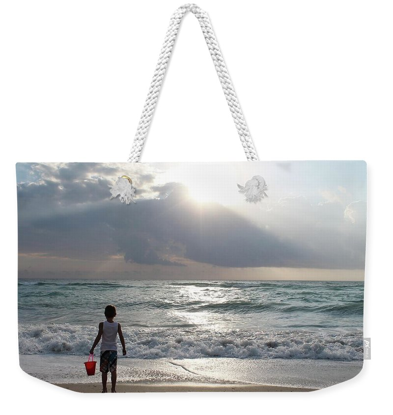 Sunrise Weekender Tote Bag featuring the photograph Sunrise In Miami by Ivy Brown