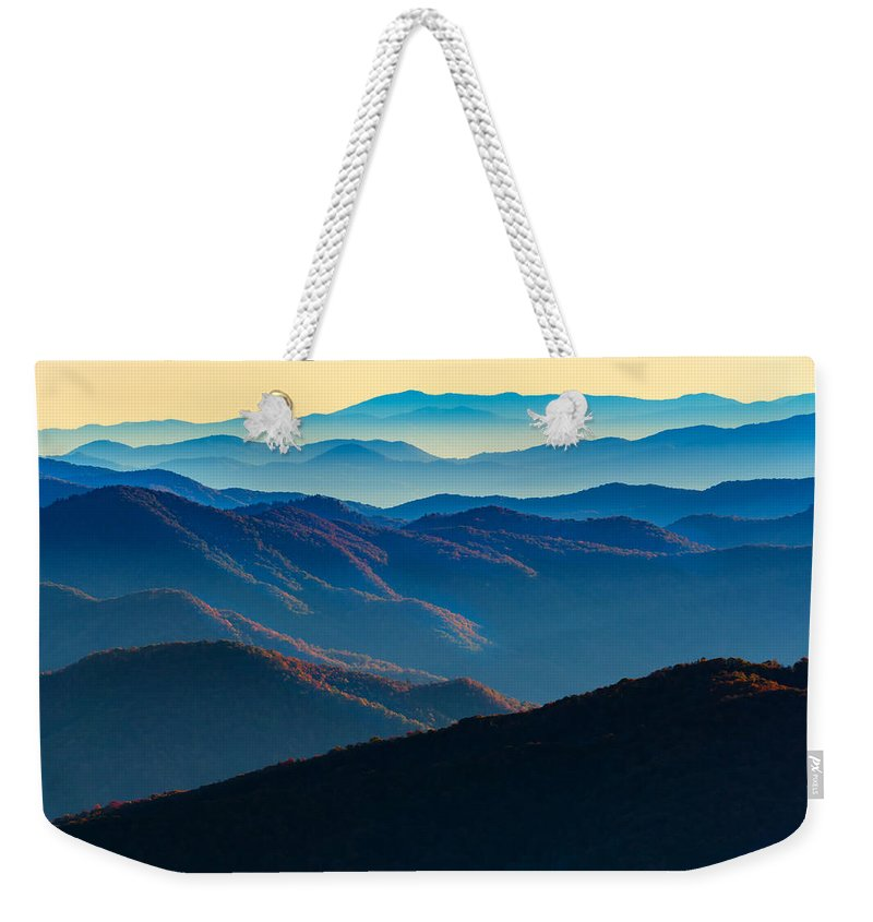 Great Smoky Mountains National Park Weekender Tote Bag featuring the photograph Sunrise In The Smokies by Rick Berk