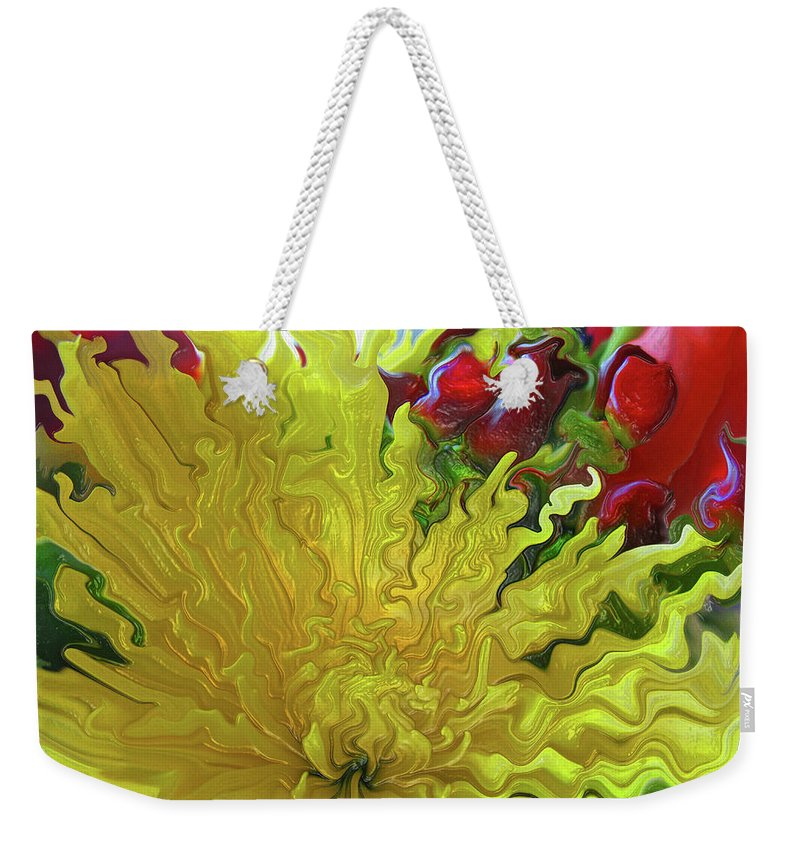 Abstract Weekender Tote Bag featuring the photograph Sunrise by Kathy Moll