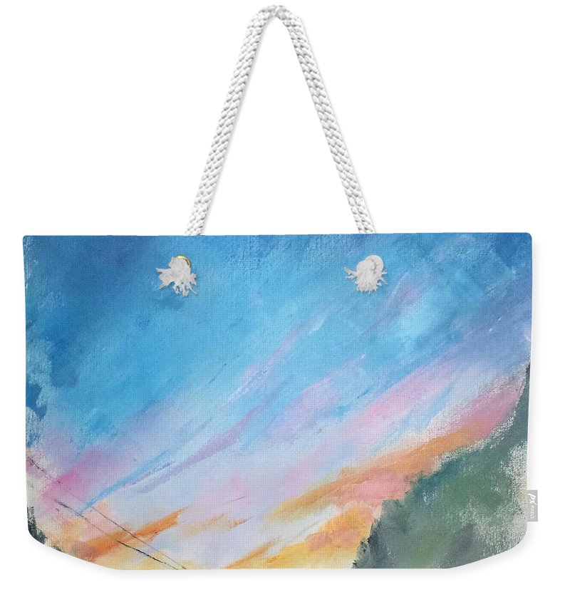 Oil On Canvas Weekender Tote Bag featuring the painting Sunrise by Natalya Zaytseva