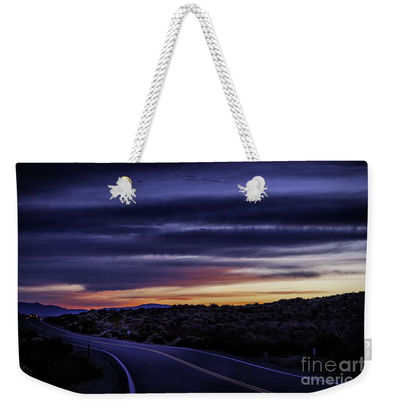 California Weekender Tote Bag featuring the photograph Sunrise Near Mono Lake 1 by Timothy Hacker