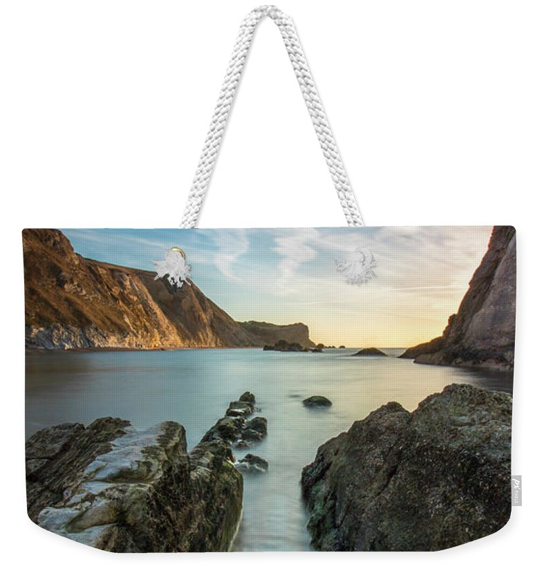 Sunrise Weekender Tote Bag featuring the photograph Sunrise On Blue by Simon Garratt