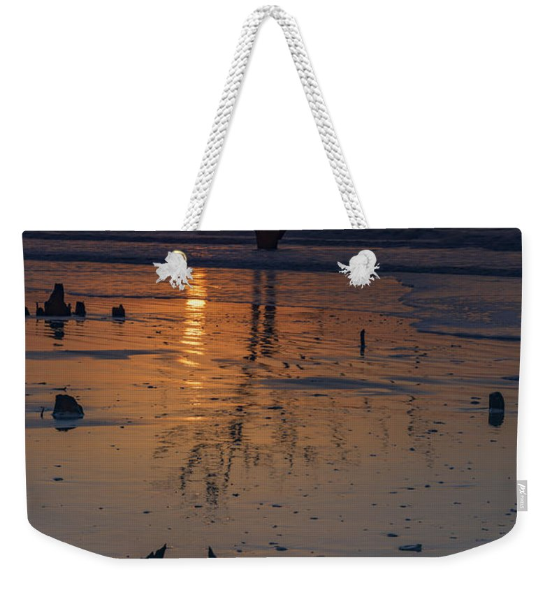 Sunrise Weekender Tote Bag featuring the photograph Sunrise On Boneyard Beach by Rick Berk
