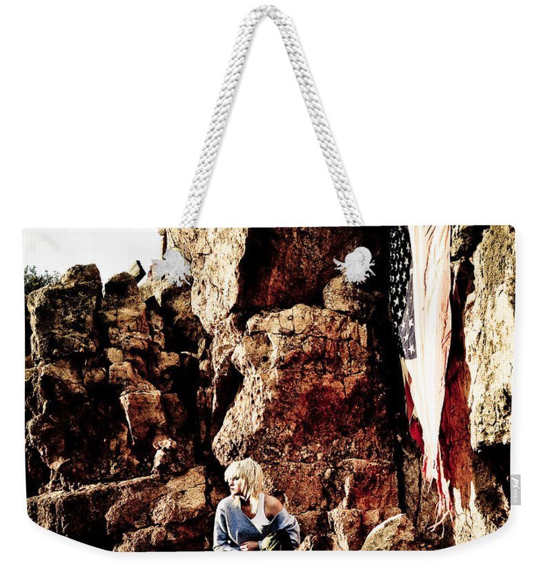 American Flag Weekender Tote Bag featuring the photograph Sunrise Or Sunset by Scott Sawyer