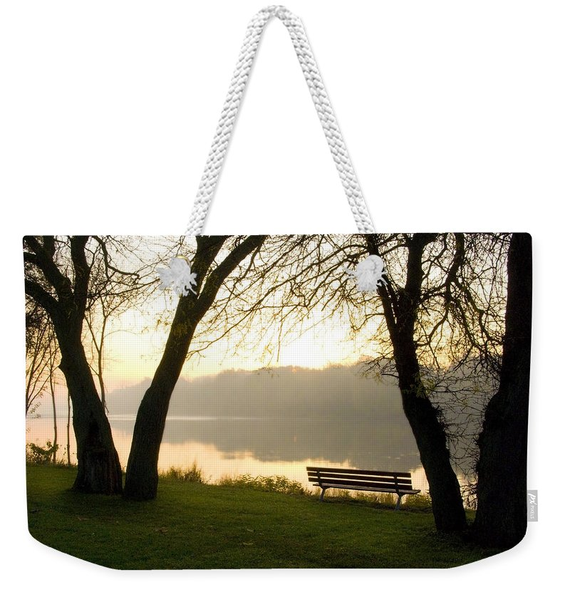 Sunrise Weekender Tote Bag featuring the photograph Sunrise Over The Maumee by Jeffery Ball