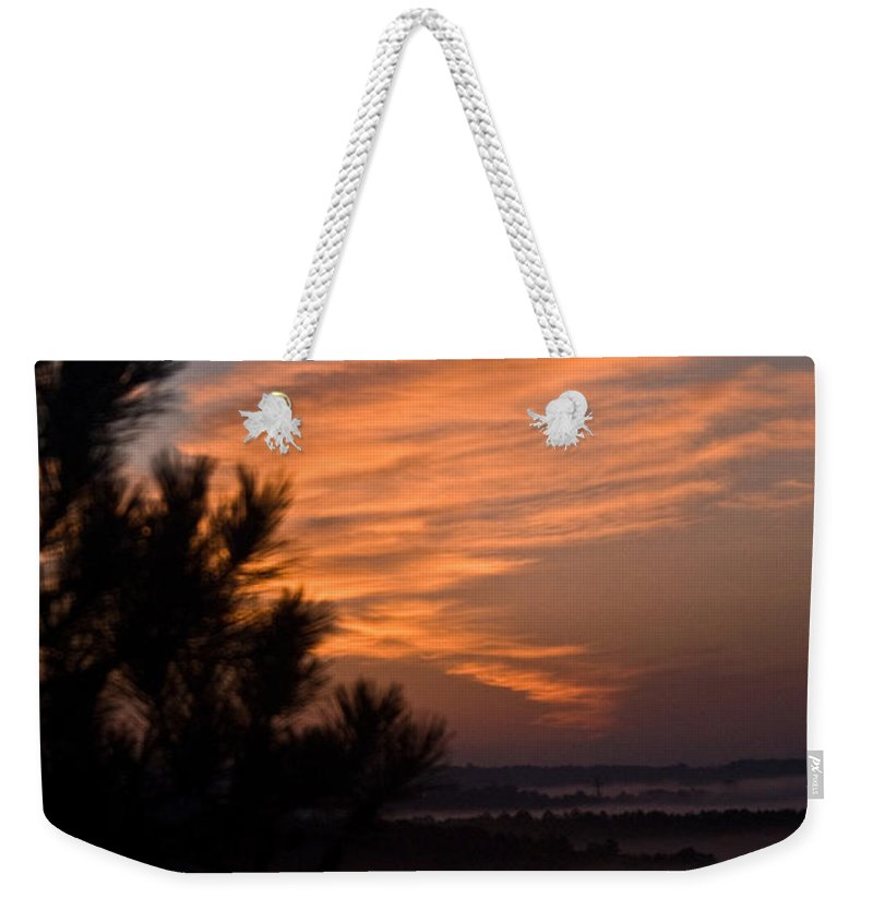Sunrise Weekender Tote Bag featuring the photograph Sunrise Over The Mist by Douglas Barnett