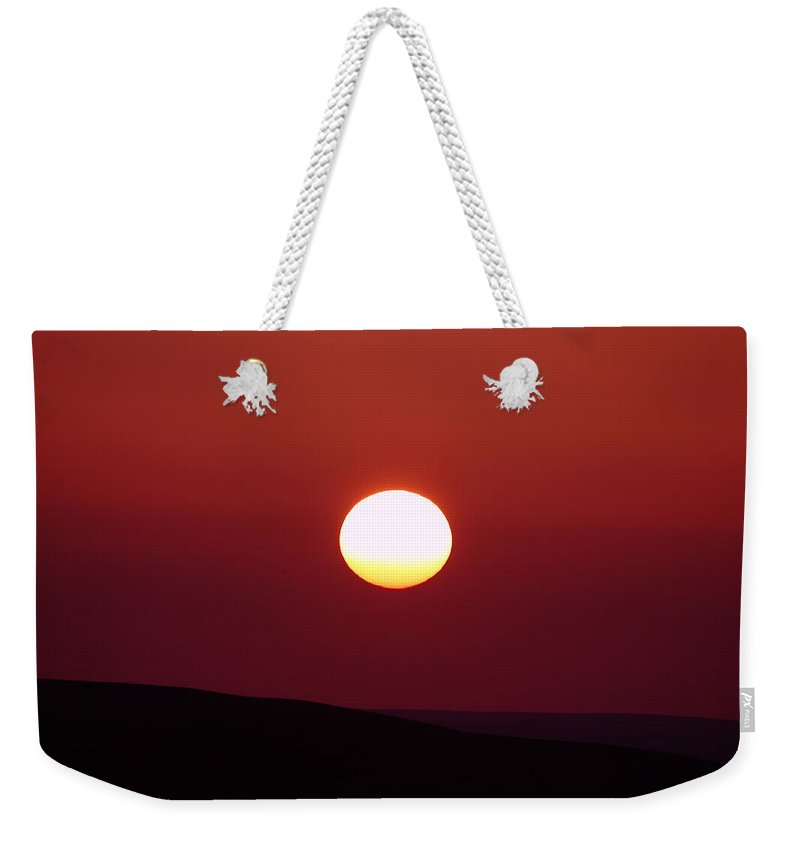Sunrise Weekender Tote Bag featuring the photograph Sunrise Over The Wenas by Jeff Swan