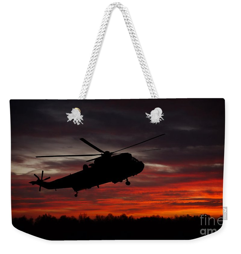 Air Rescue Weekender Tote Bag featuring the photograph Sunrise Search And Rescue by Rawshutterbug