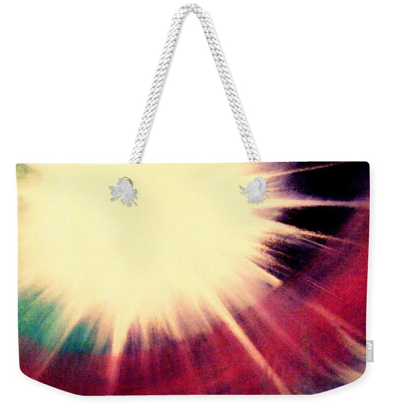 Sunrise Weekender Tote Bag featuring the painting Sunrise Symphony by Kumiko Mayer