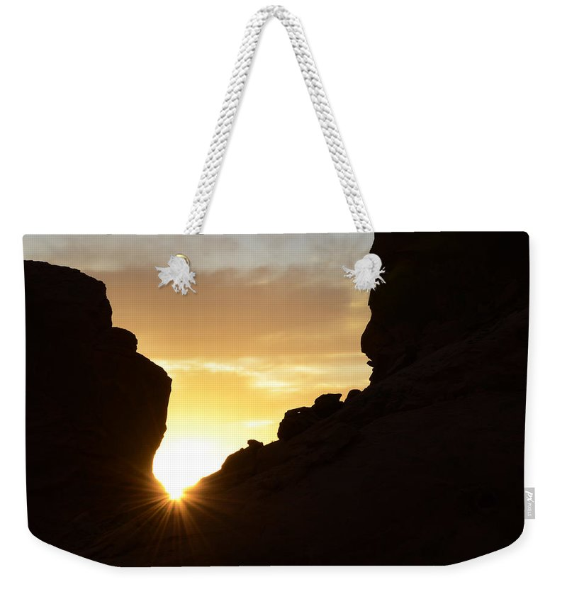 Nevada Weekender Tote Bag featuring the photograph Sunrise Valley Of Fire by Bob Christopher