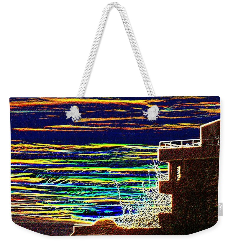 Seattle Weekender Tote Bag featuring the digital art Sunset 1 by Tim Allen
