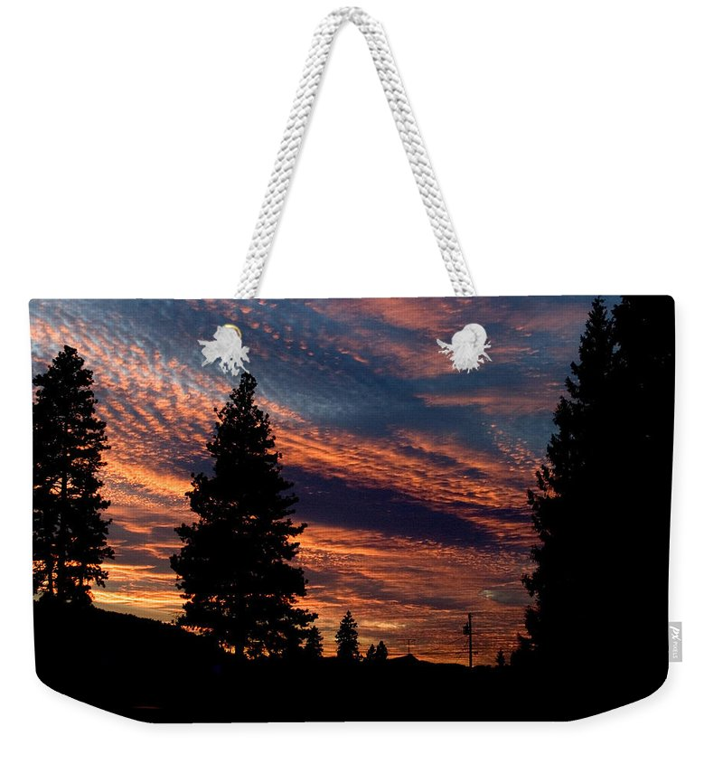 Landscape Weekender Tote Bag featuring the photograph Sunset 2 by Lee Santa