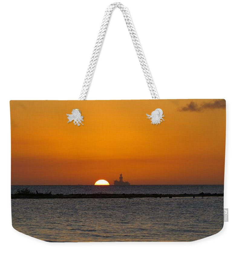 Sea Weekender Tote Bag featuring the photograph Sunset 3 by Sandra Bourret