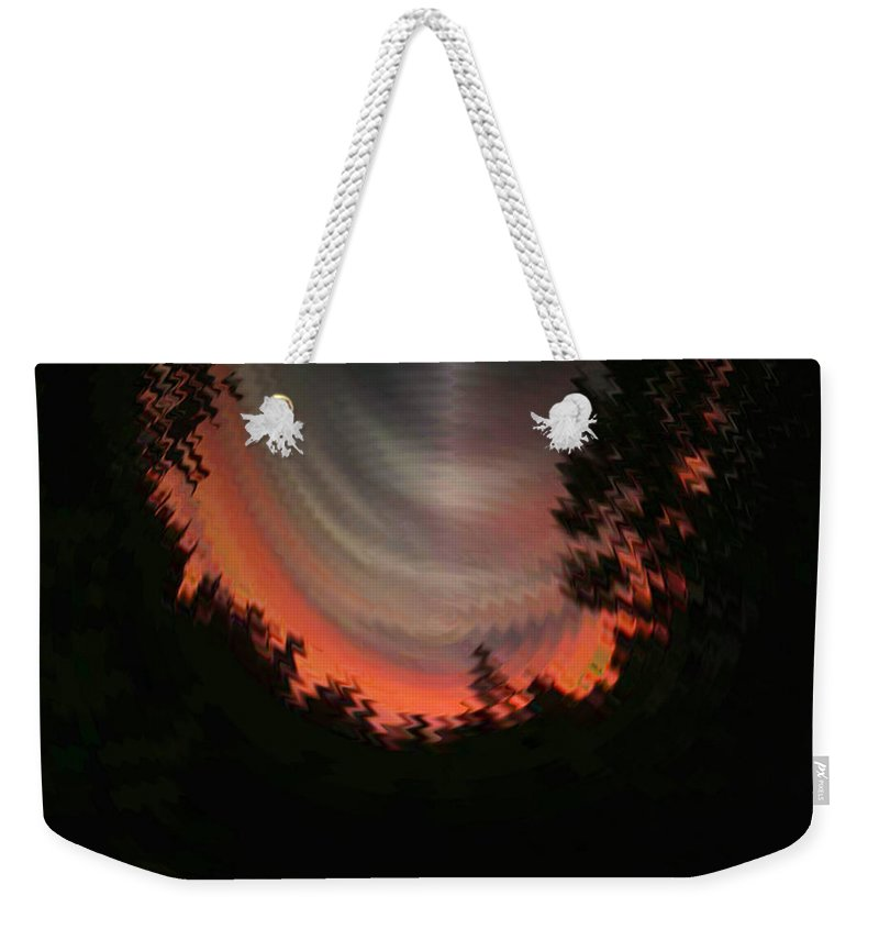 Sunset Weekender Tote Bag featuring the digital art Sunset 3 by Tim Allen