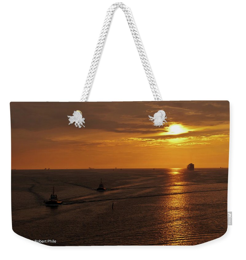 Ships Weekender Tote Bag featuring the photograph Sunset - 34 by George Phile