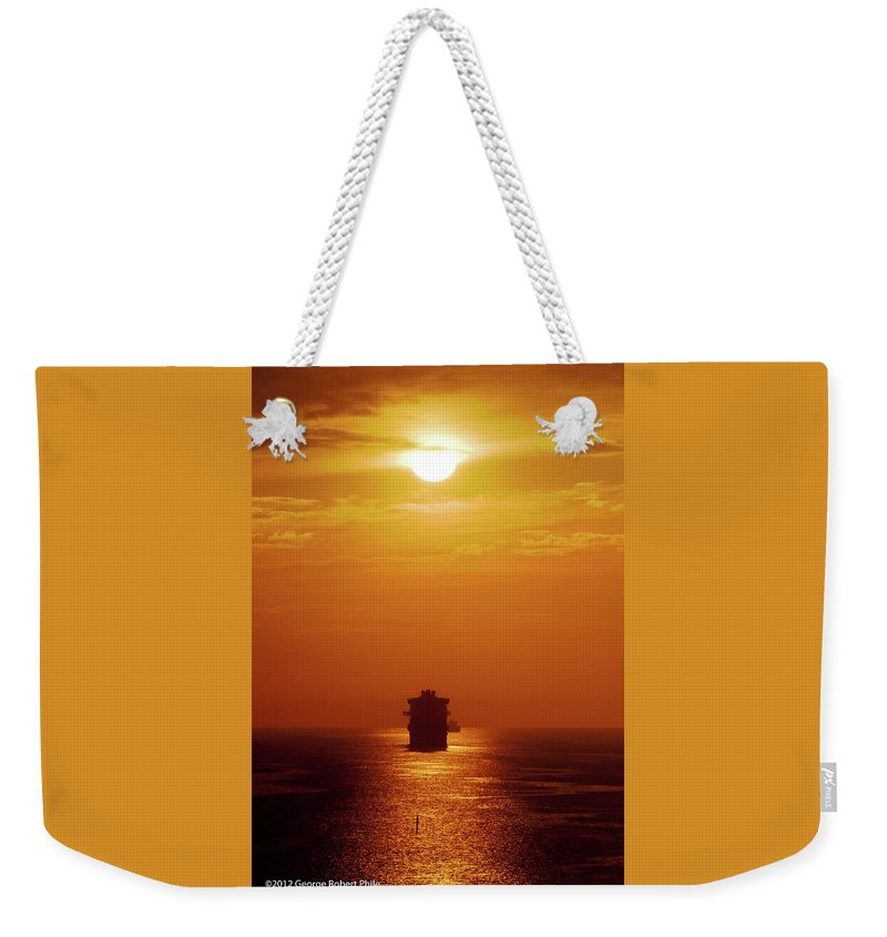 Ships Weekender Tote Bag featuring the photograph Sunset - 36 by George Phile
