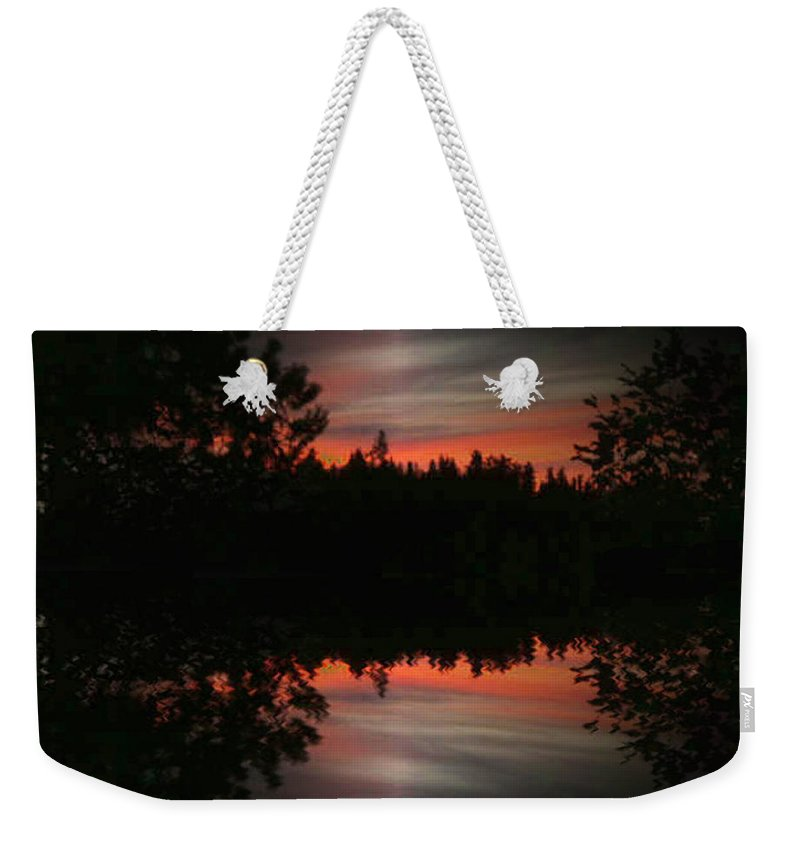 Sunset Weekender Tote Bag featuring the photograph Sunset 4 by Tim Allen