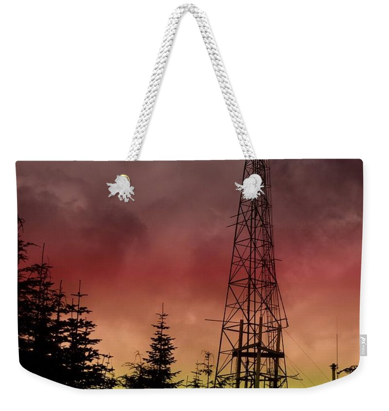 Sunset Weekender Tote Bag featuring the photograph Sunset 5 by Tim Allen