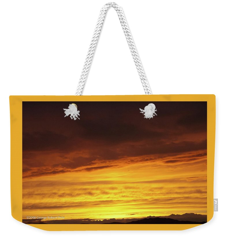 Sunset Weekender Tote Bag featuring the photograph Sunset - 52 by George Phile