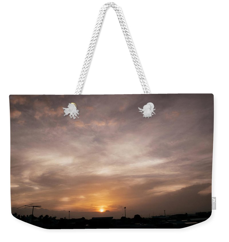 Ahuachapan Weekender Tote Bag featuring the photograph Sunset Ahuachapan 19 by Totto Ponce
