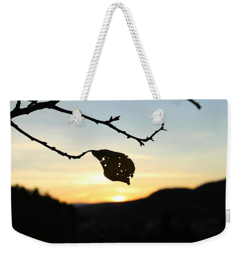Sunset Weekender Tote Bag featuring the photograph Sunset by Alena Madosova