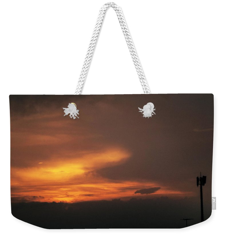 Ahuachapan Weekender Tote Bag featuring the photograph Sunset At Ahuachapan 7 by Totto Ponce