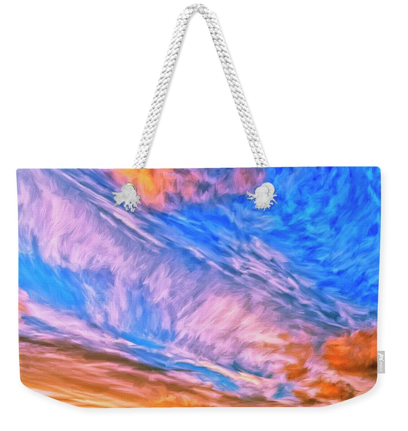 Cannon Beach Weekender Tote Bag featuring the painting Sunset At Cannon Beach by Dominic Piperata