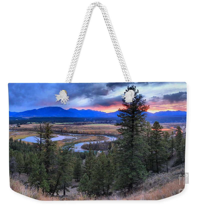 Columbia Wetlands Weekender Tote Bag featuring the photograph Sunset At Columbia Wetlands by Adam Jewell