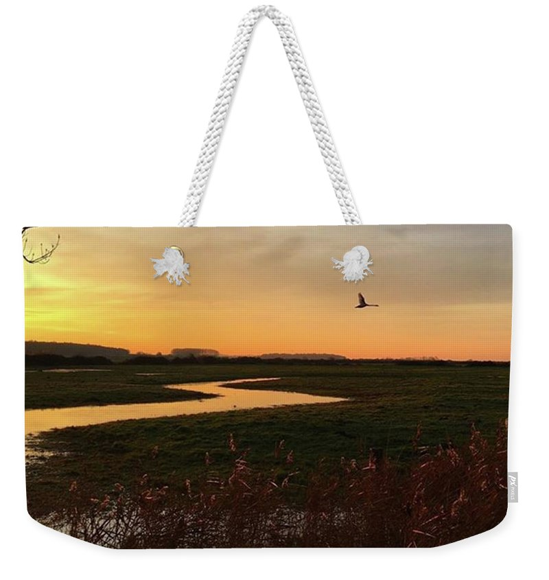 Natureonly Weekender Tote Bag featuring the photograph Sunset At Holkham Today  #landscape by John Edwards