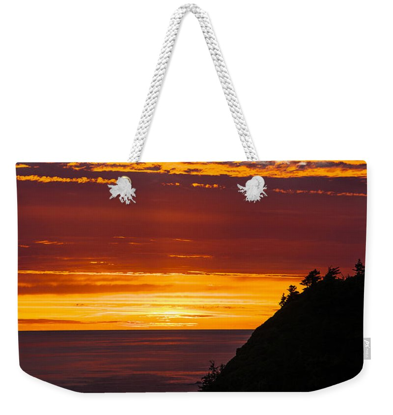 Clouds Weekender Tote Bag featuring the photograph Sunset At Oswald West by Robert Potts