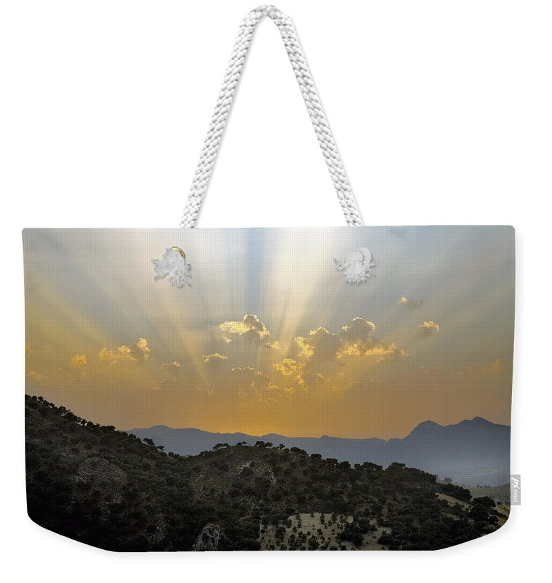 Sunrise Weekender Tote Bag featuring the photograph Sunset At Pastelero Near Villanueva De La Concepcion Andalucia Spain by Mal Bray