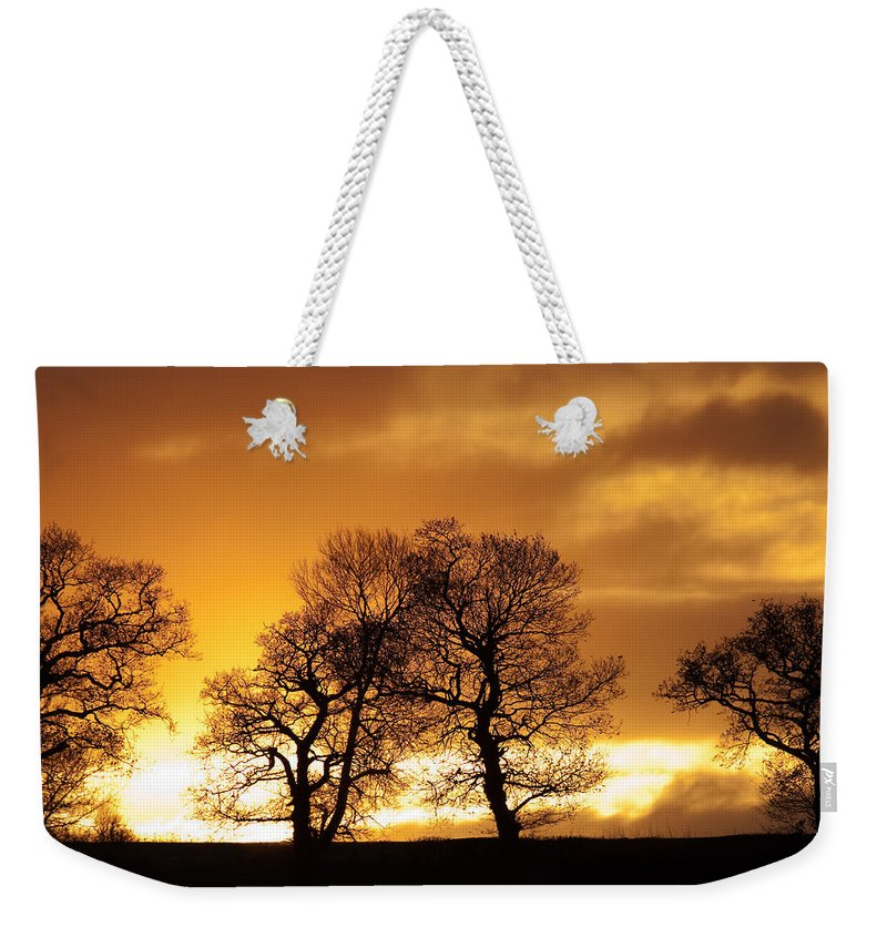 Sunset Weekender Tote Bag featuring the photograph Sunset At Redhill by Bob Kemp