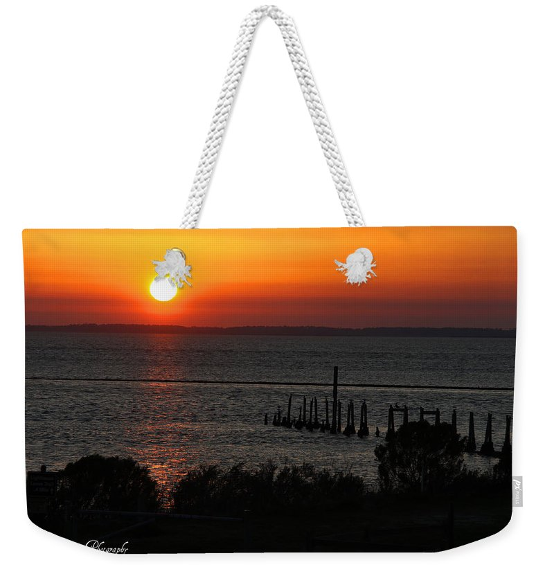 Sunset Weekender Tote Bag featuring the photograph Sunset At St.marks Nwf by Barbara Bowen