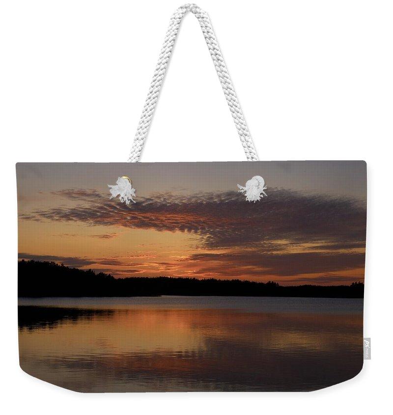 Lehtokukka Weekender Tote Bag featuring the photograph Sunset At The Gulf Of Bothnia 4 by Jouko Lehto