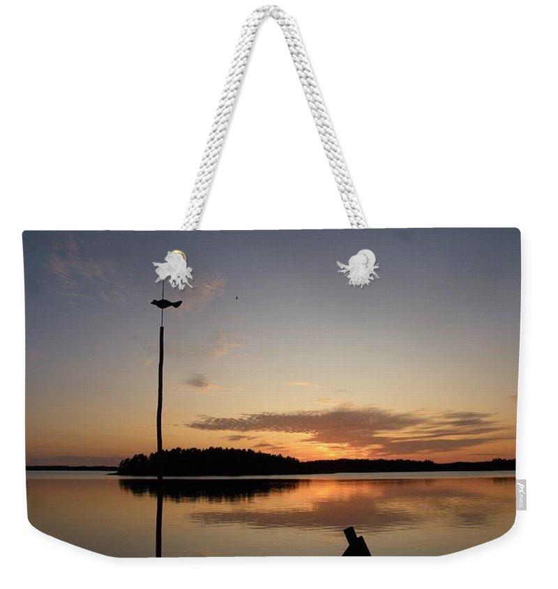 Lehtokukka Weekender Tote Bag featuring the photograph Sunset At The Gulf Of Bothnia by Jouko Lehto