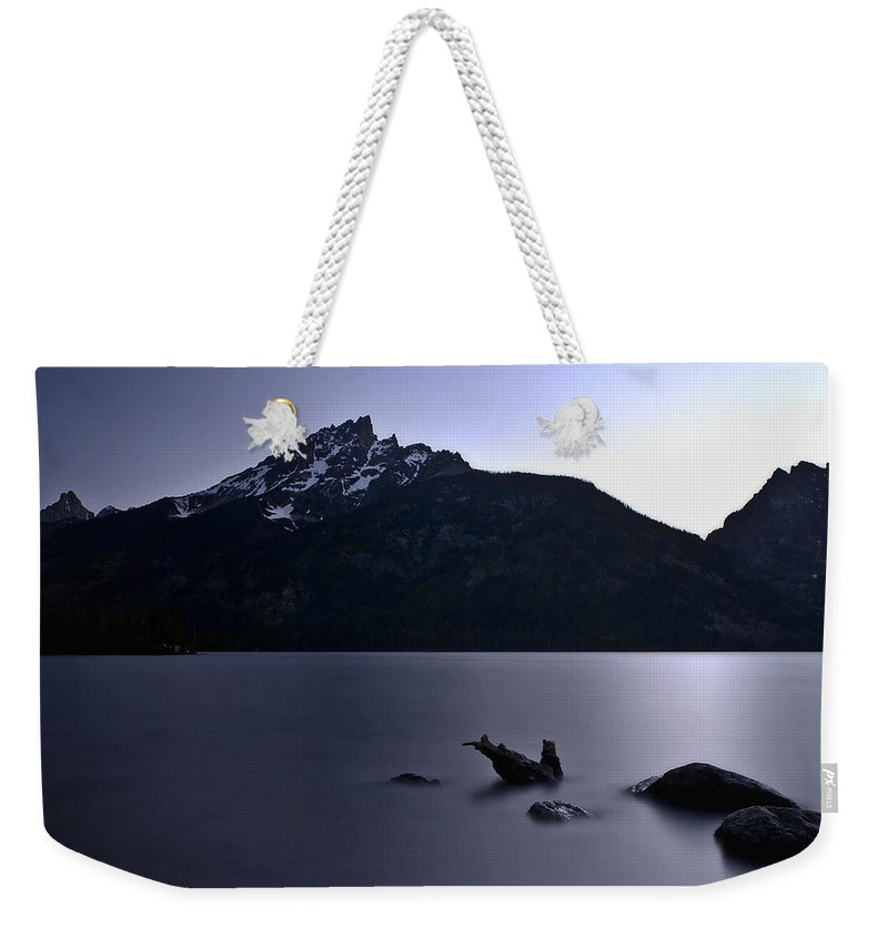 Nature Weekender Tote Bag featuring the photograph Sunset At The Lake by John K Sampson