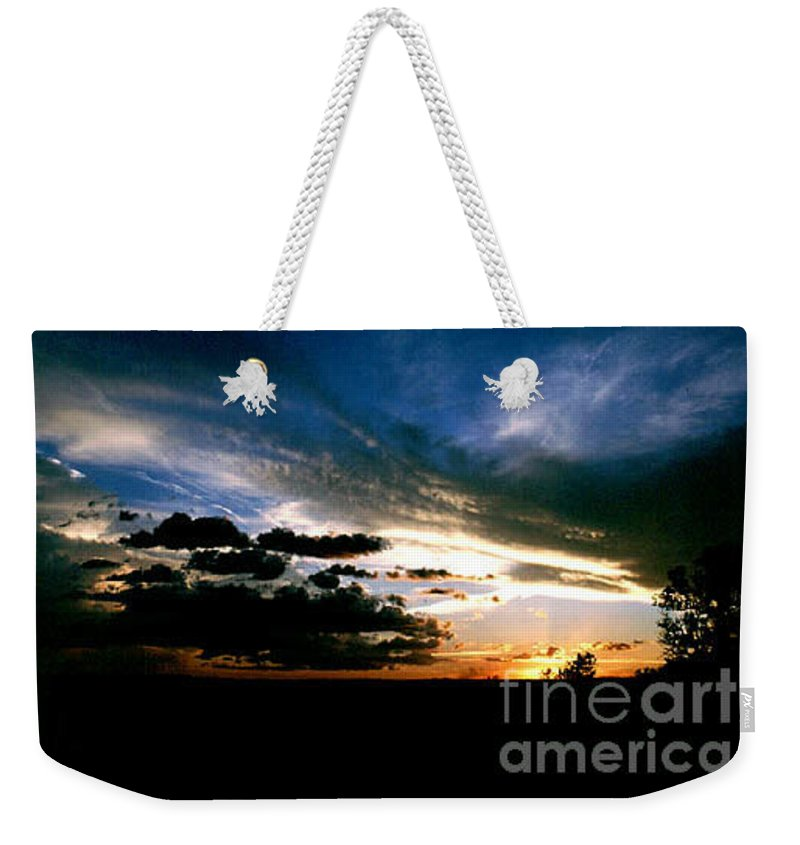 Sunset Weekender Tote Bag featuring the photograph Sunset at the North Rim by Kathy McClure