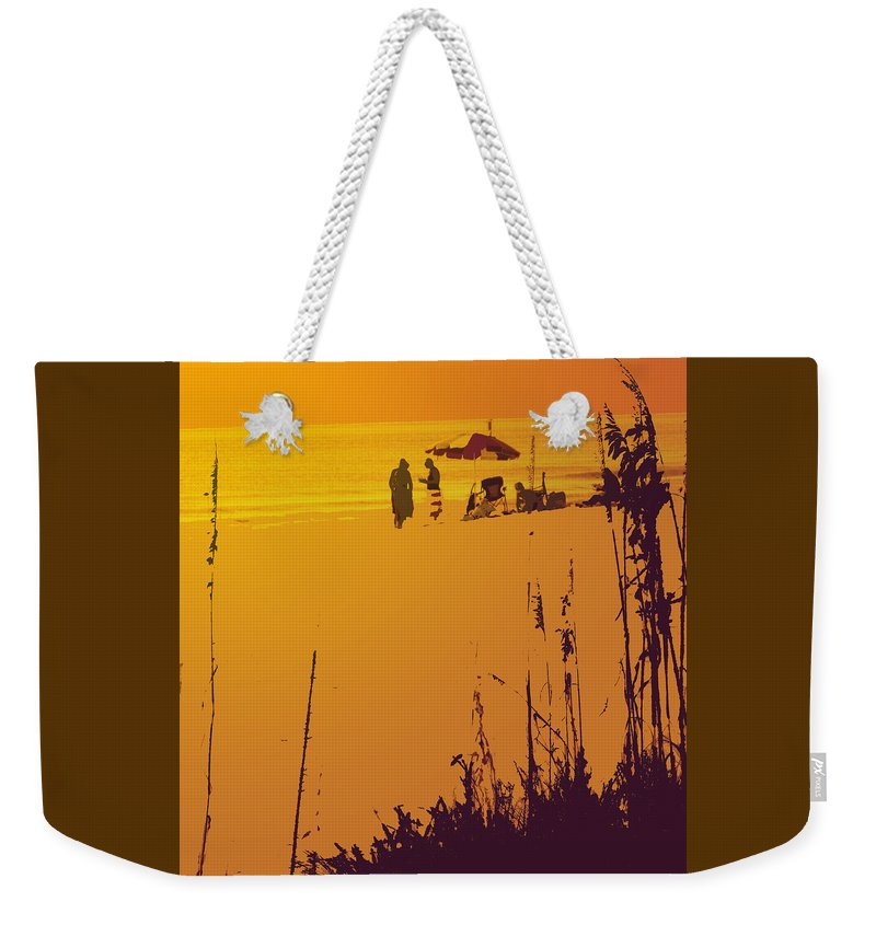Beach Weekender Tote Bag featuring the photograph Sunset Beach by Ian MacDonald