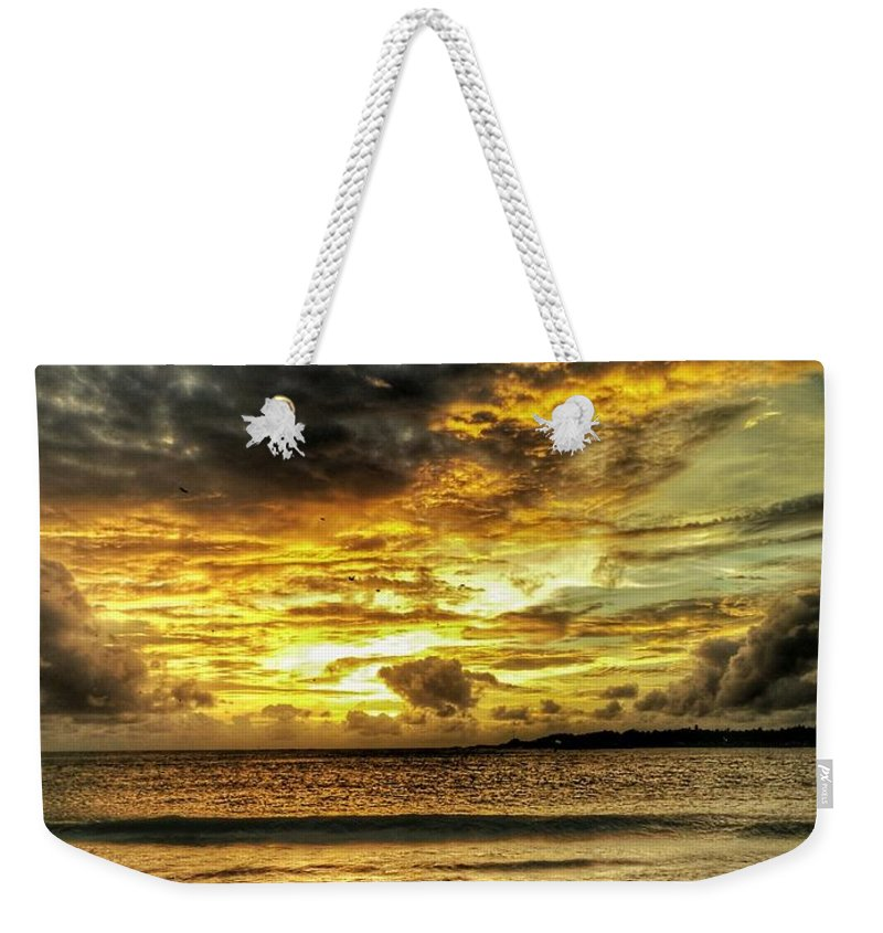 Sunset Weekender Tote Bag featuring the photograph Sunset Clouds by Evan Dantas