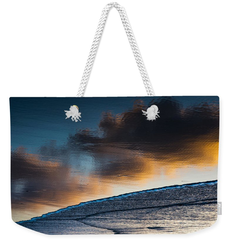 Beach Weekender Tote Bag featuring the photograph Sunset Clouds Reflect by Robert Potts