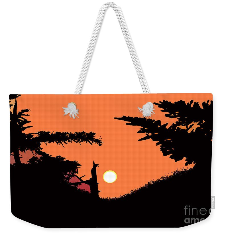 Sunset Weekender Tote Bag featuring the painting Sunset by David Lee Thompson