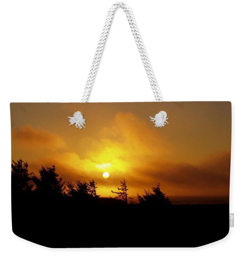 Sunset Weekender Tote Bag featuring the photograph Sunset by Deborah Crew-Johnson