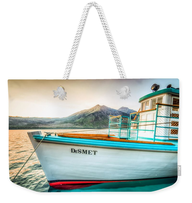Montana Weekender Tote Bag featuring the photograph Sunset Dinner Cruise by Spencer McDonald