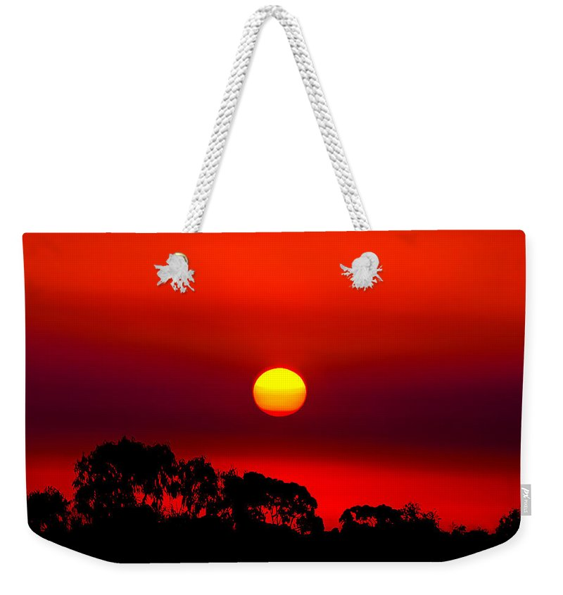 Landscape Weekender Tote Bag featuring the photograph Sunset Dreaming by Az Jackson