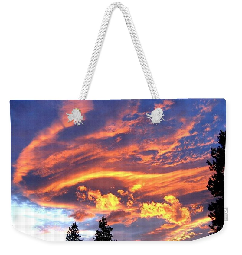 Sunset Weekender Tote Bag featuring the photograph Sunset Extravaganza by Will Borden