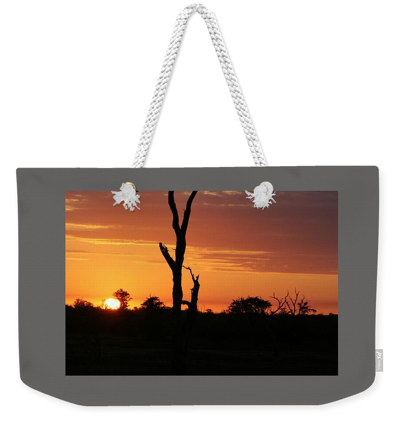 Sunset Weekender Tote Bag featuring the digital art Sunset by Frederick Holiday