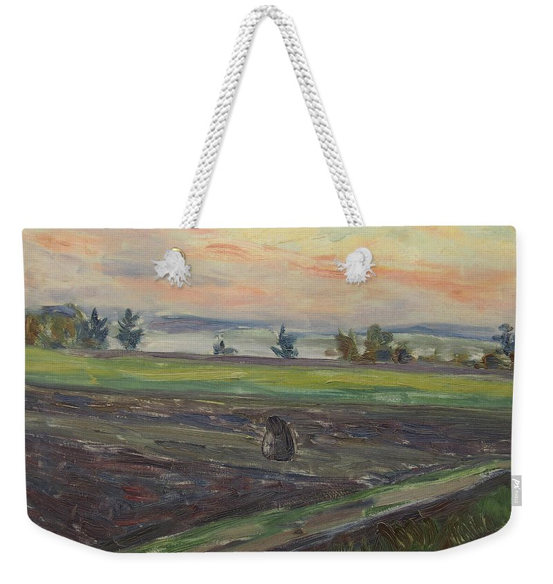 German Painters Weekender Tote Bag featuring the painting Sunset by Fritz Flebbe