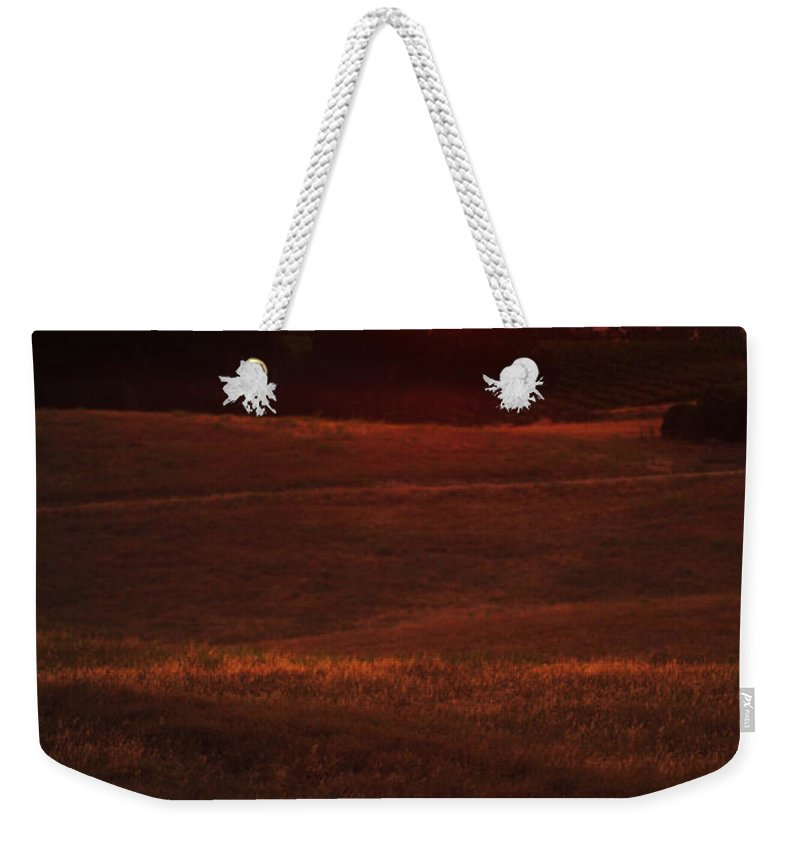 Sunset Weekender Tote Bag featuring the photograph Sunset Gate by Jill Reger