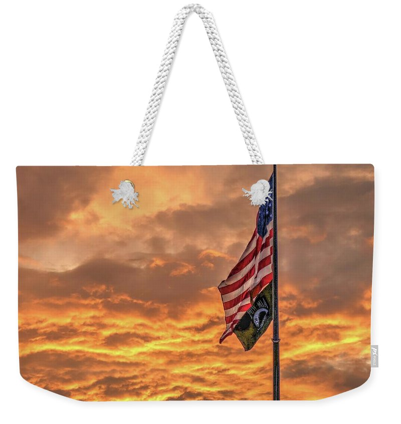 American Weekender Tote Bag featuring the photograph Sunset Glory by Jim Allsopp